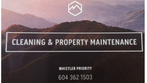 Whistler Priority Cleaning and Property Maintenance